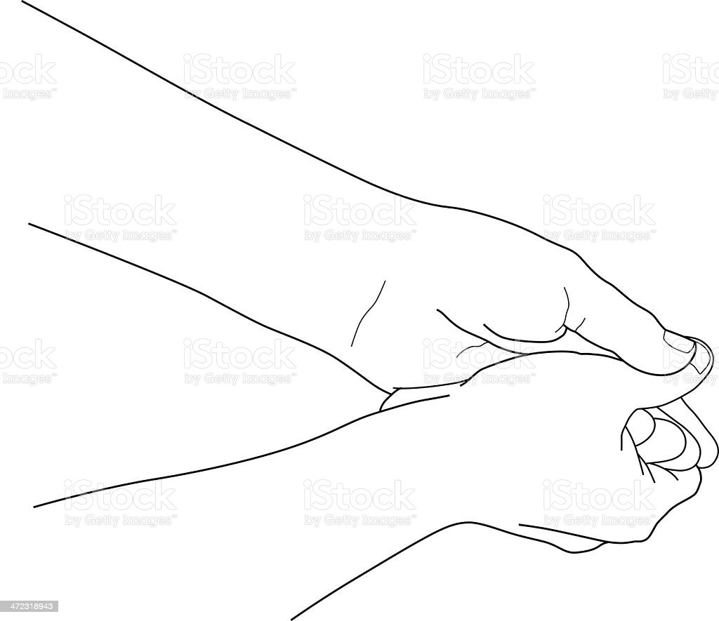 Rubbing hands together. royalty-free stock vector art