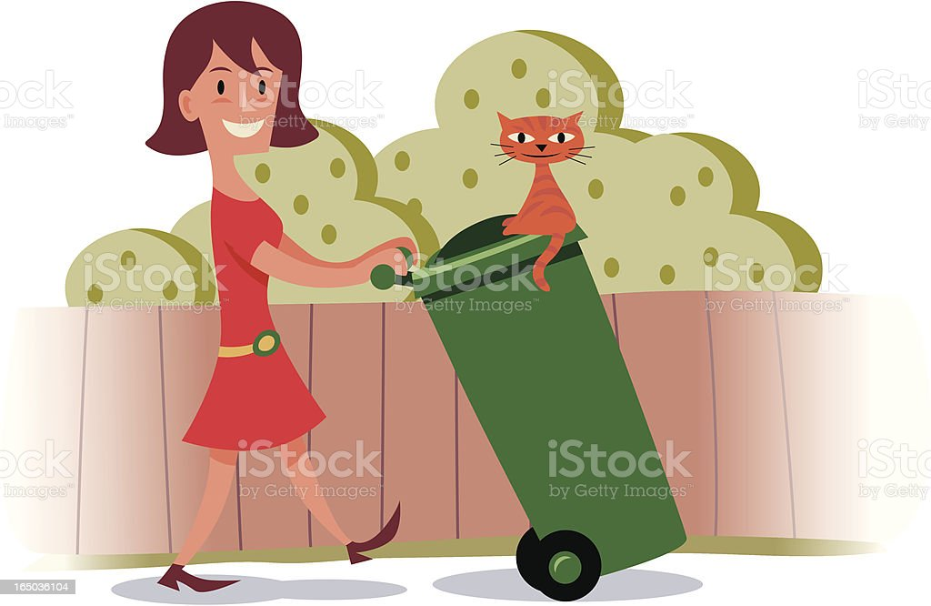 Rubbish out! royalty-free stock vector art
