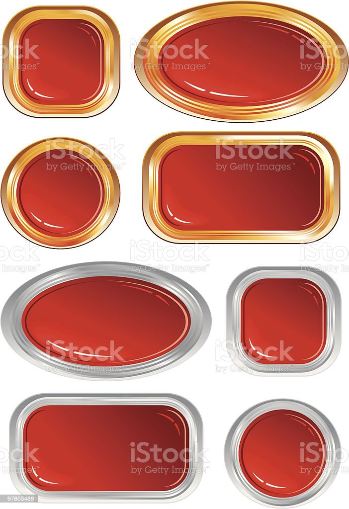 Ruby buttons royalty-free stock vector art