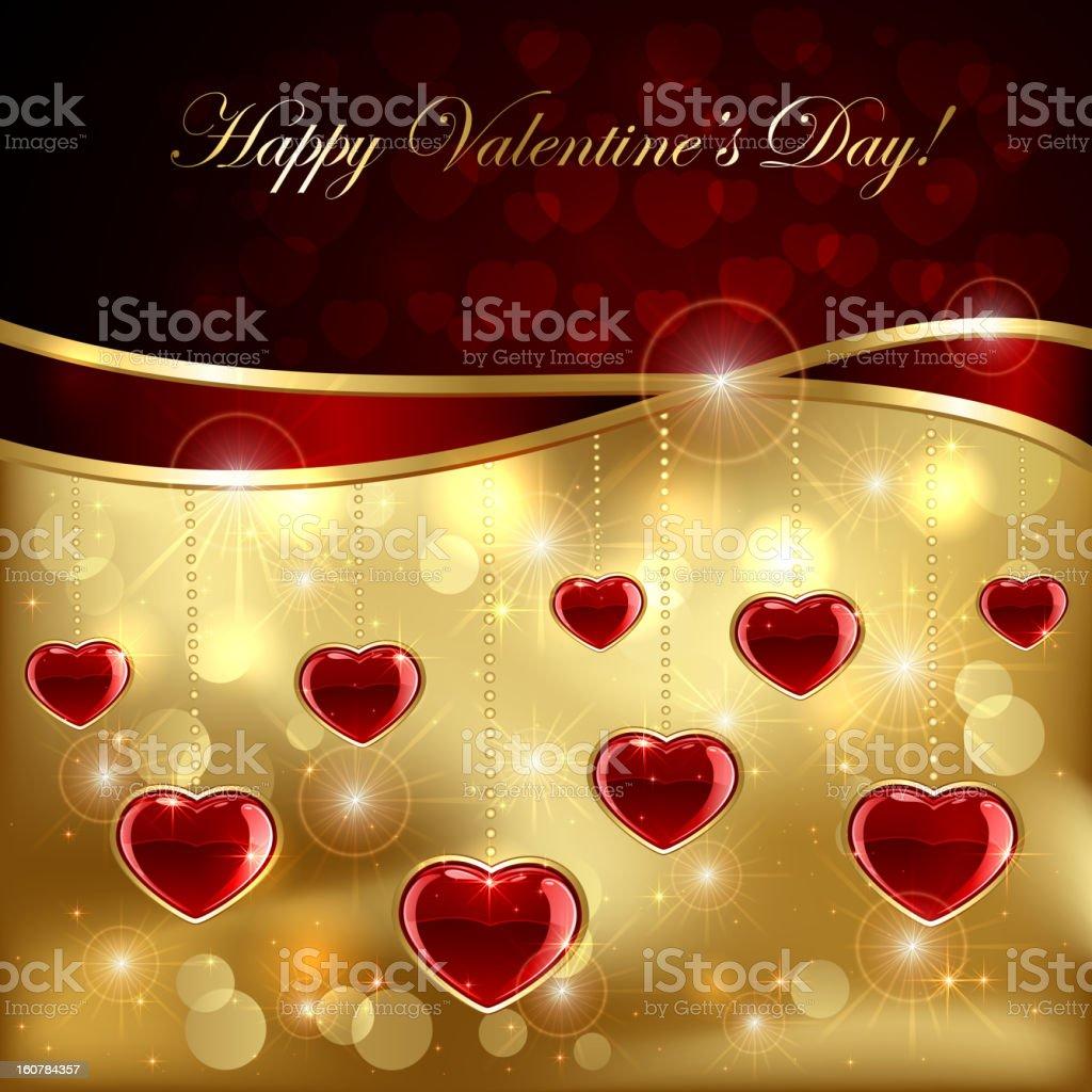 Ruby hearts royalty-free stock vector art