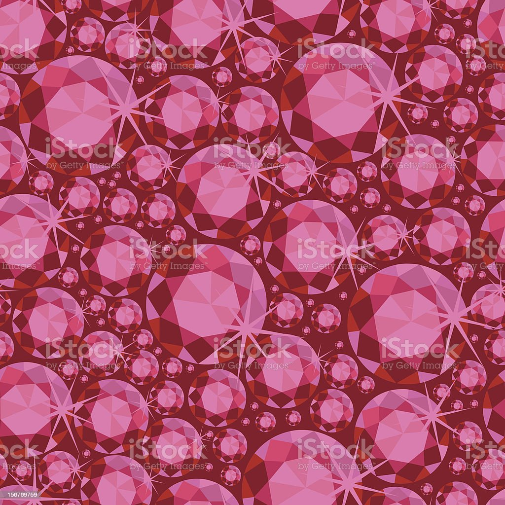 Ruby red gems seamless pattern royalty-free stock vector art