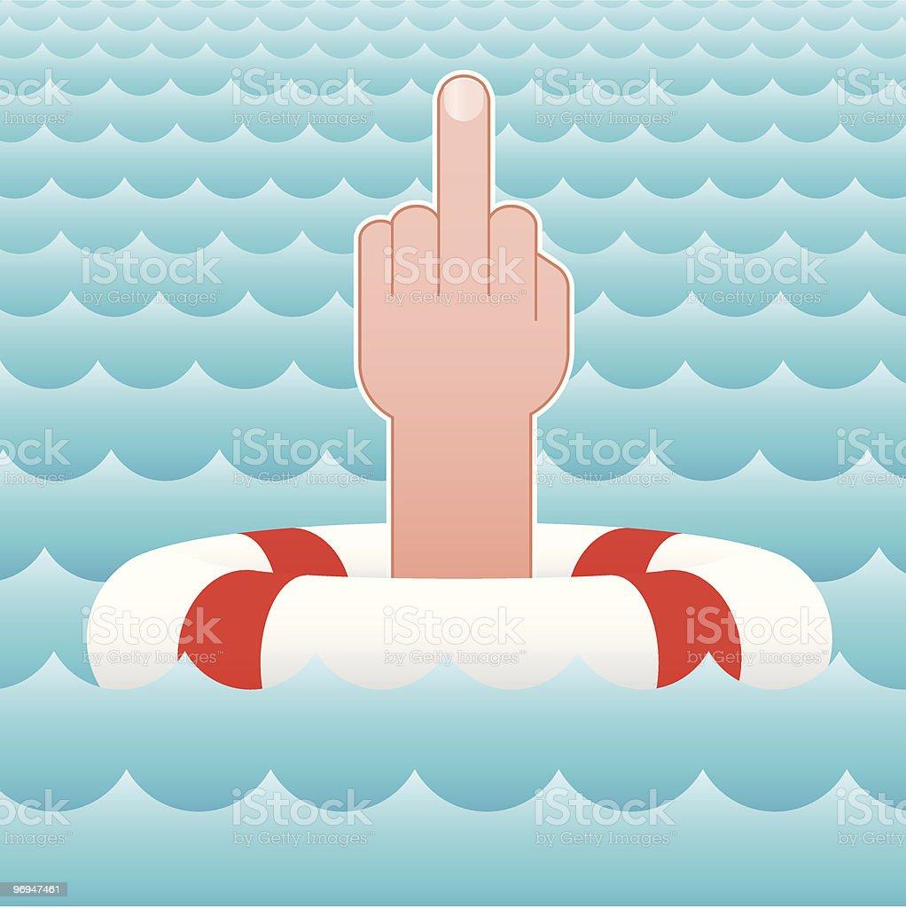 Rude hand sign royalty-free stock vector art