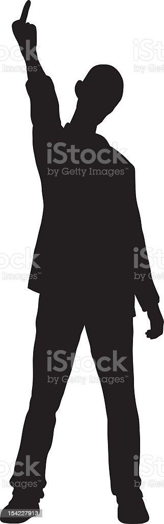 Rude Man vector art illustration