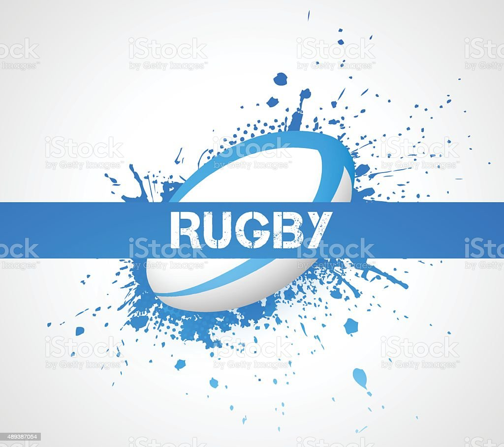 Rugby ball vector art illustration