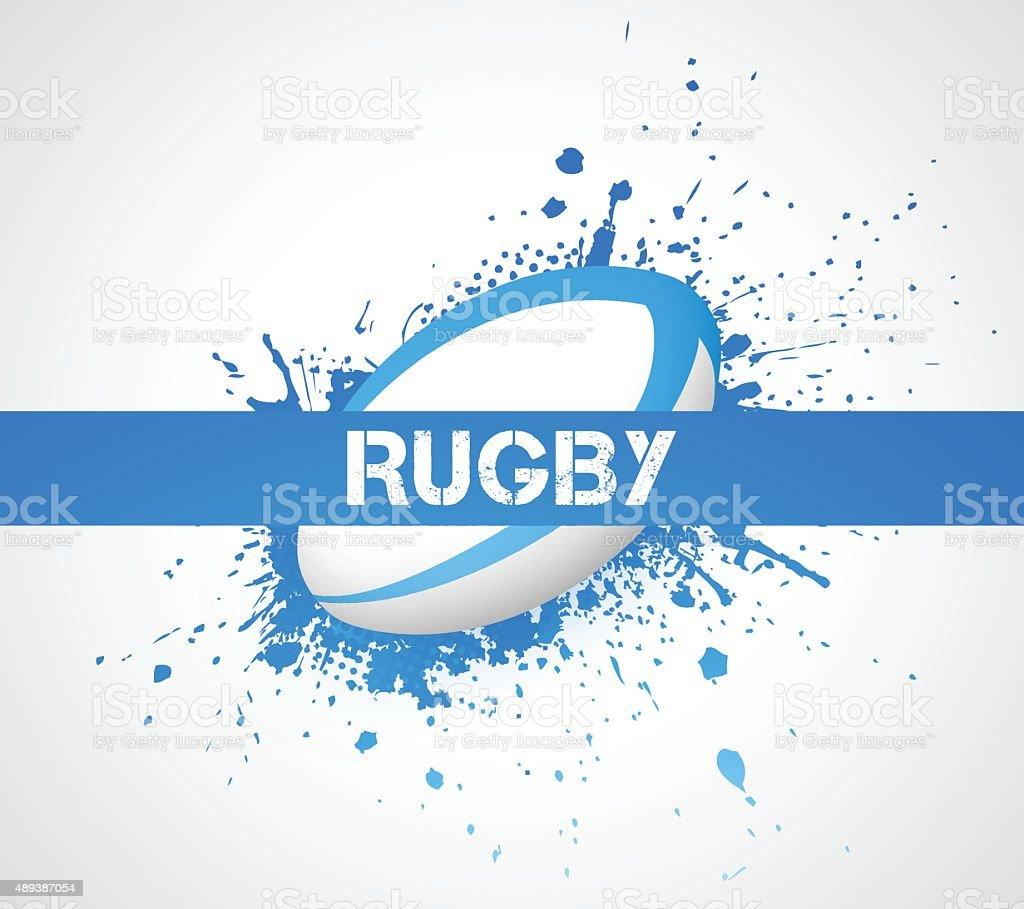 Rugby ball vector art illustration