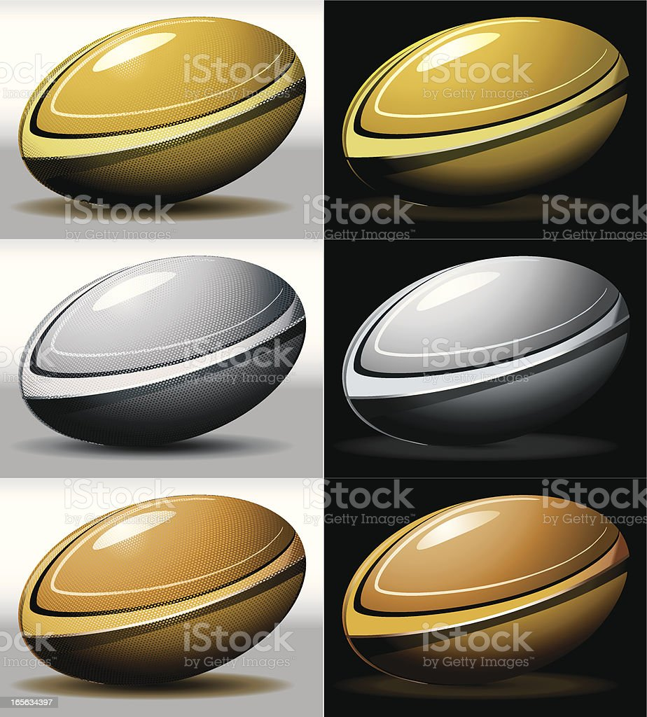 Rugby balls royalty-free stock vector art