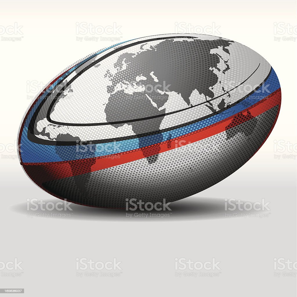 Rugby ball-World vector art illustration