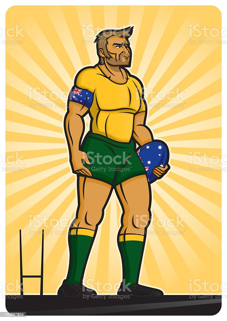 Rugby Player Australia royalty-free stock vector art