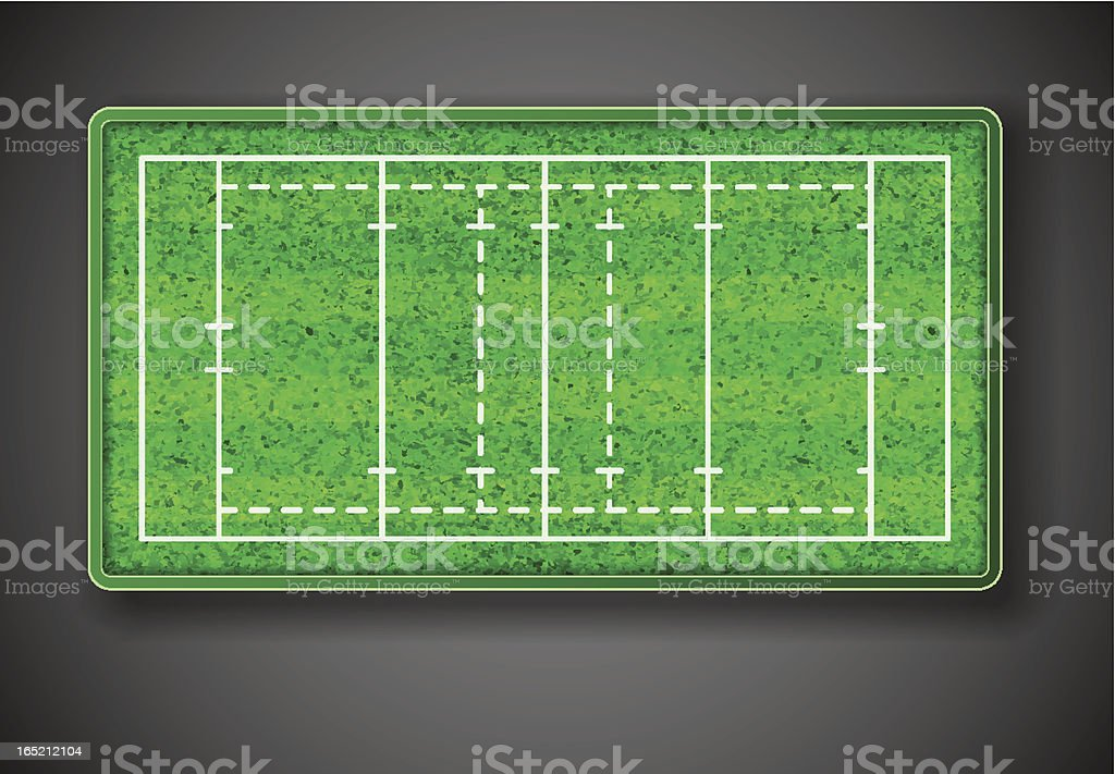 Rugby stadium royalty-free stock vector art