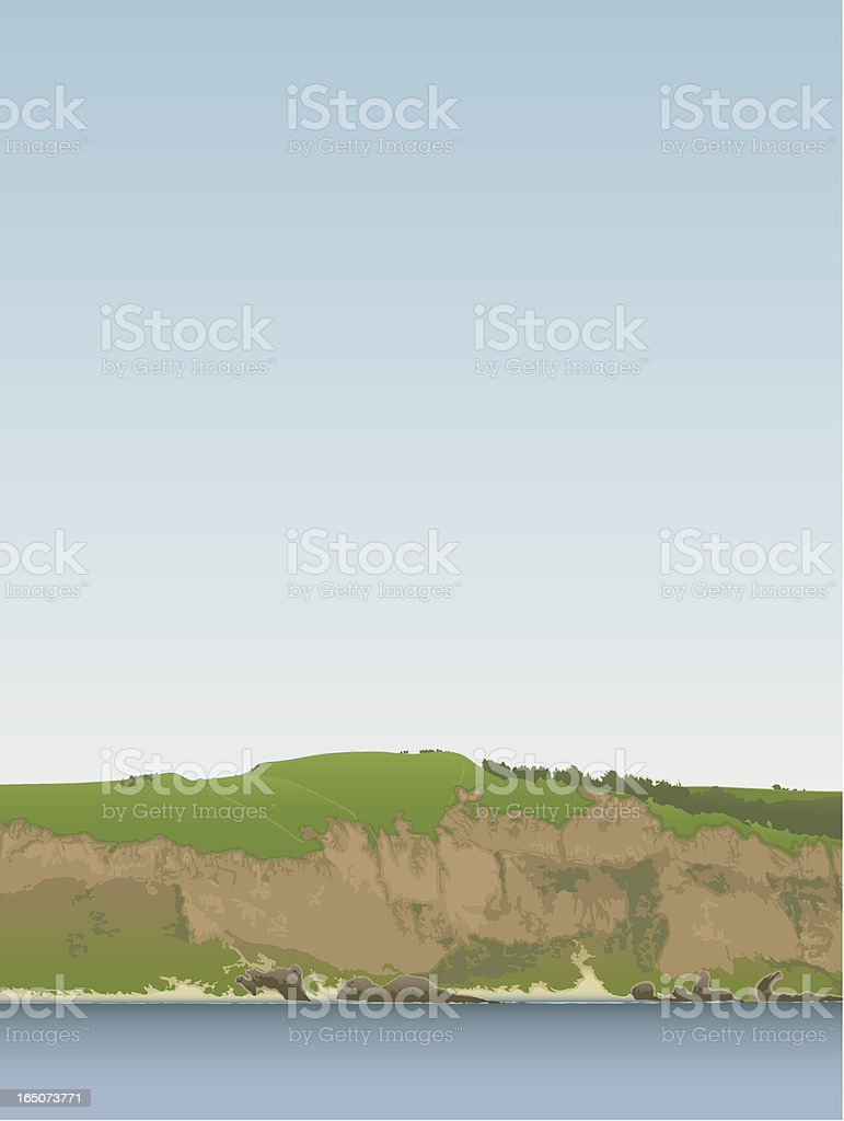 Rugged Headland royalty-free stock vector art