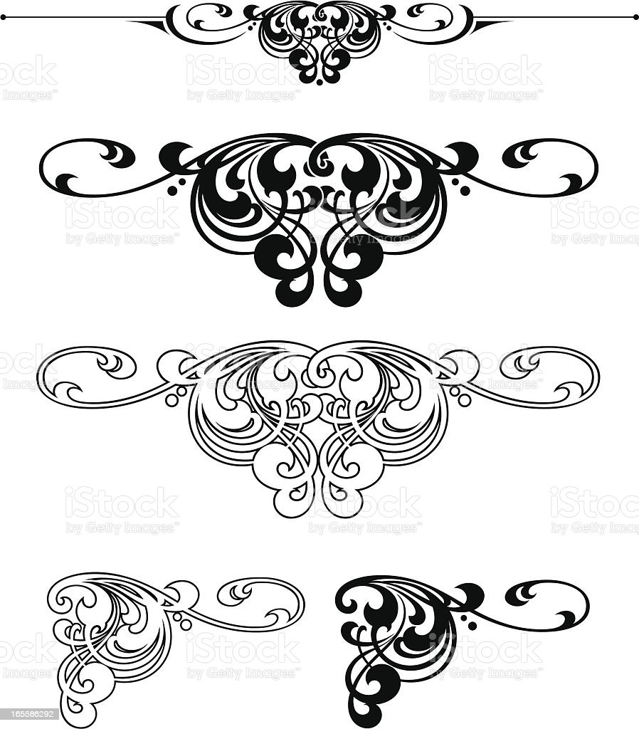 Ruleline and Centre Design royalty-free stock vector art