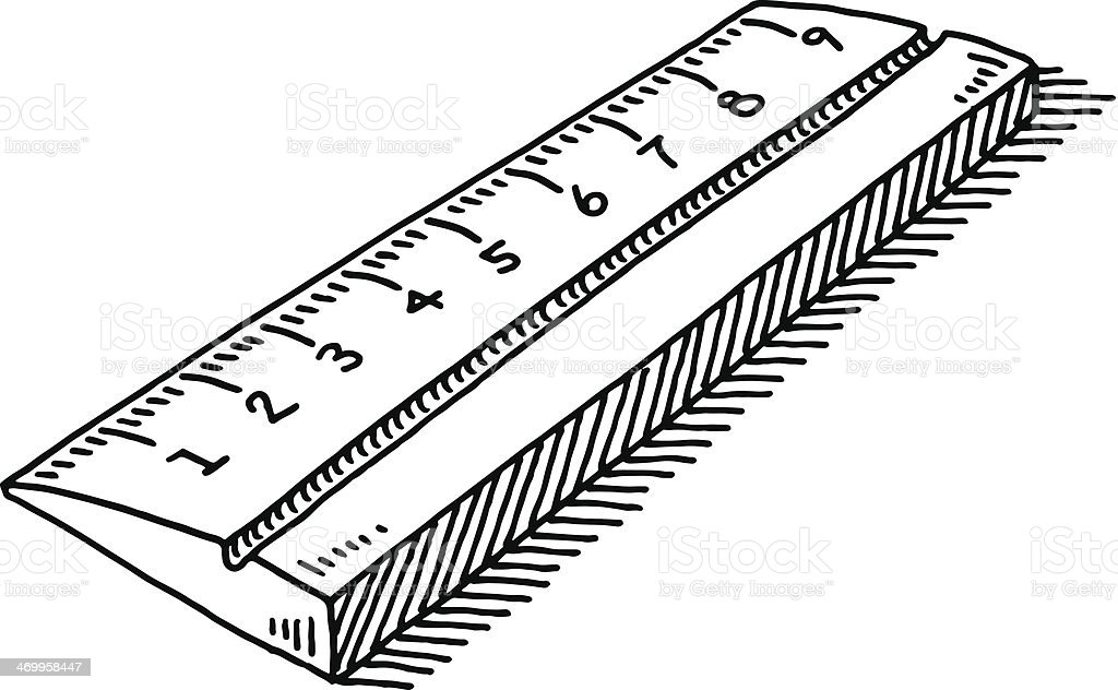 Drawing Lines With A Ruler : Ruler symbol drawing stock vector art istock