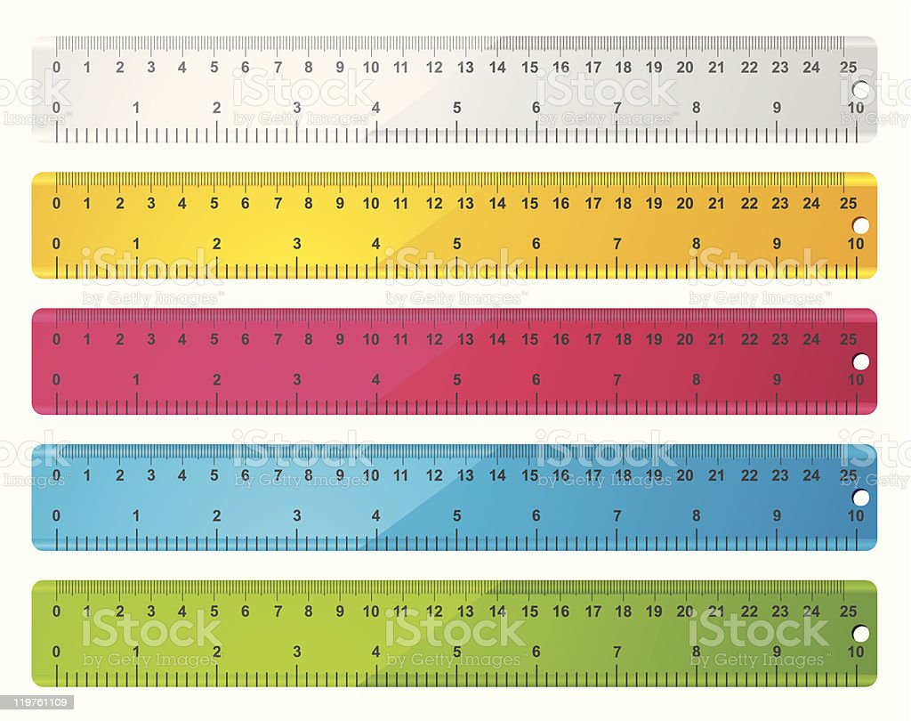 rulers vector art illustration