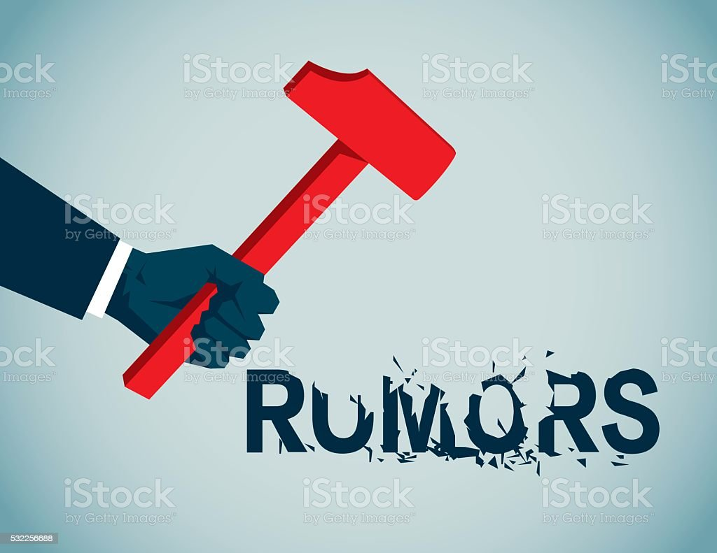 Rumors vector art illustration