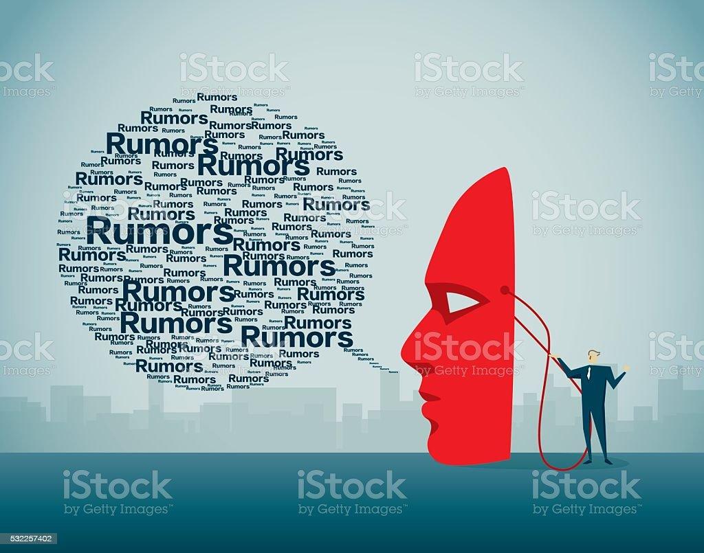 Rumors, vector art illustration