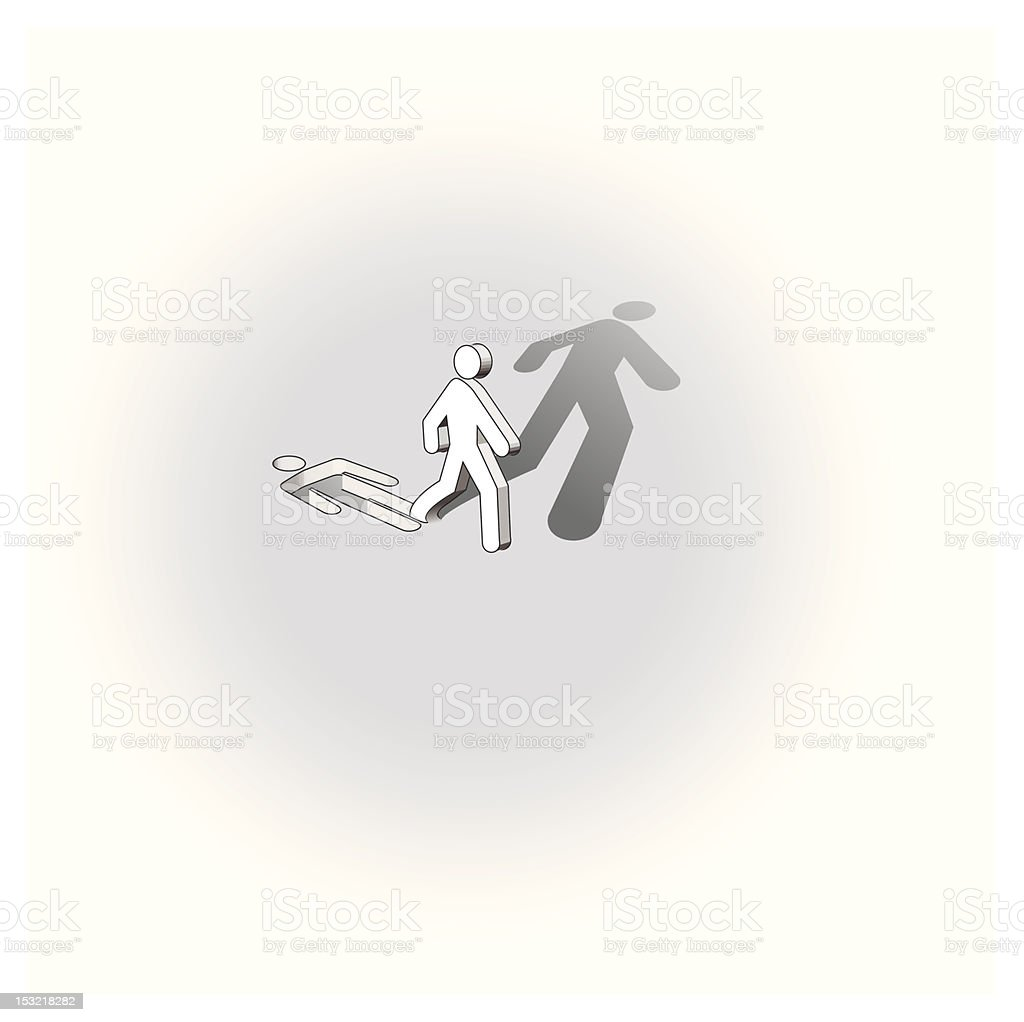 run away from commonness royalty-free stock vector art