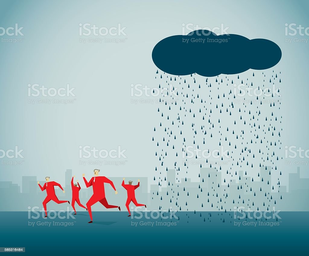 Run Away vector art illustration