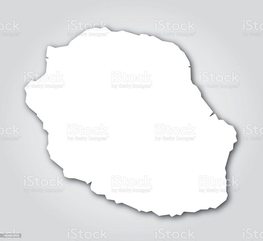 Réunion Silhouette White vector art illustration