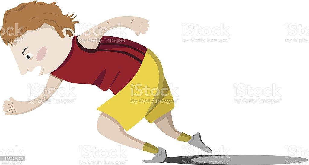 runner vector art illustration