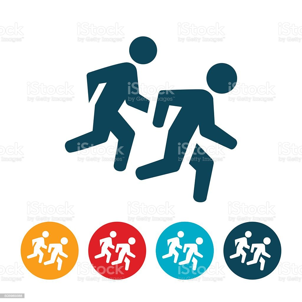 Runners Icon vector art illustration