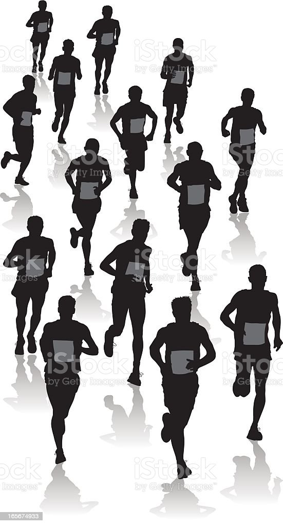 Runners two royalty-free stock vector art