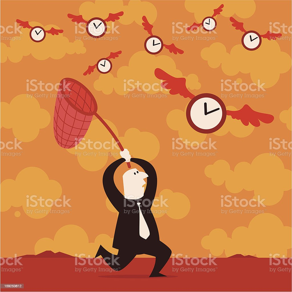 Running After Time royalty-free stock vector art