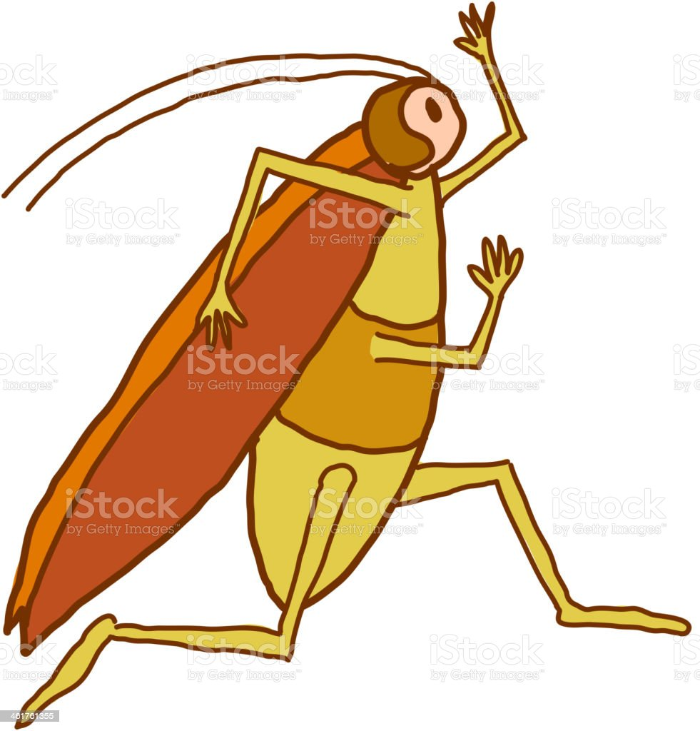 running cockroach royalty-free stock vector art