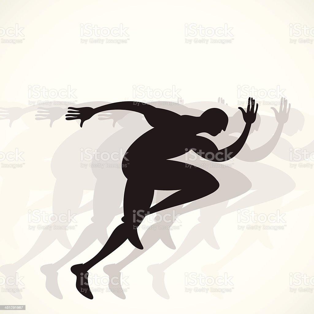 running competition vector art illustration