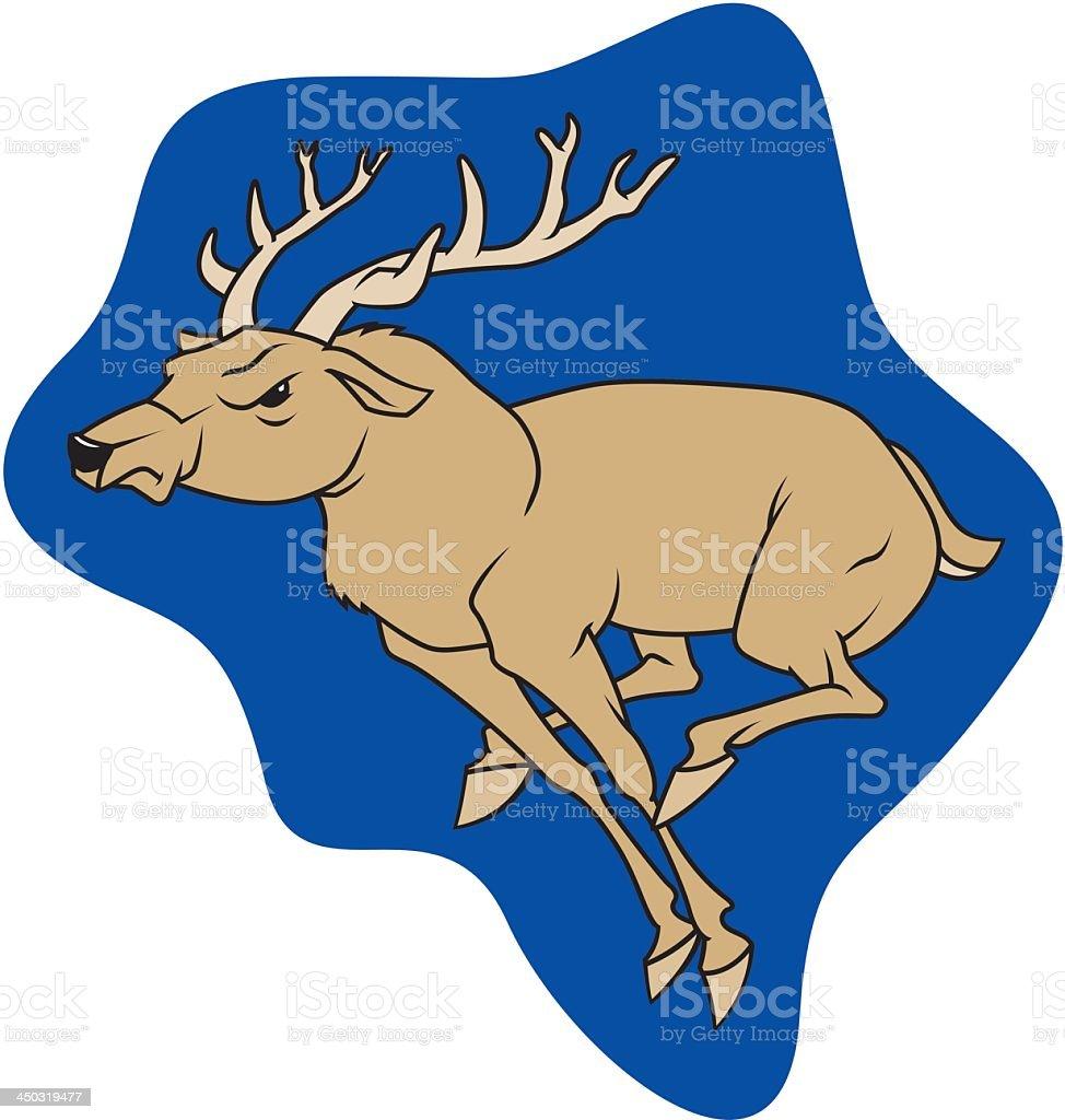 Running Deer royalty-free stock vector art