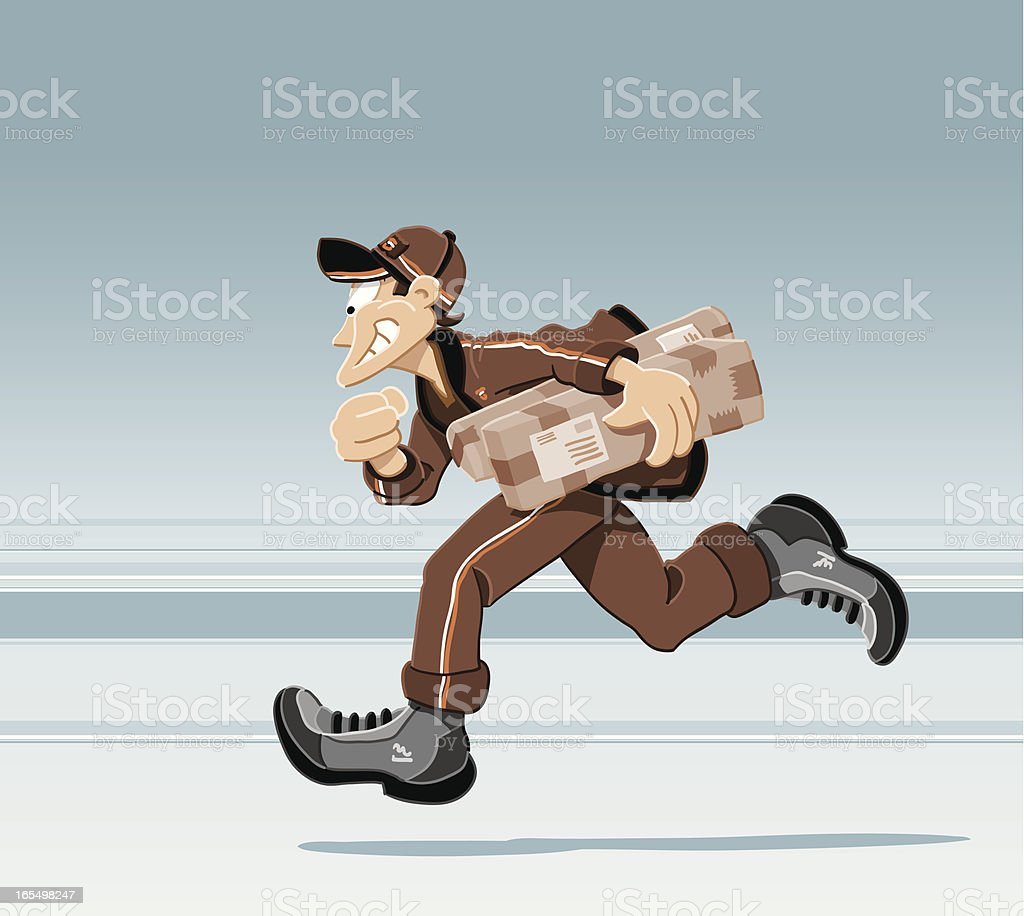 Running Deliveryman royalty-free stock vector art