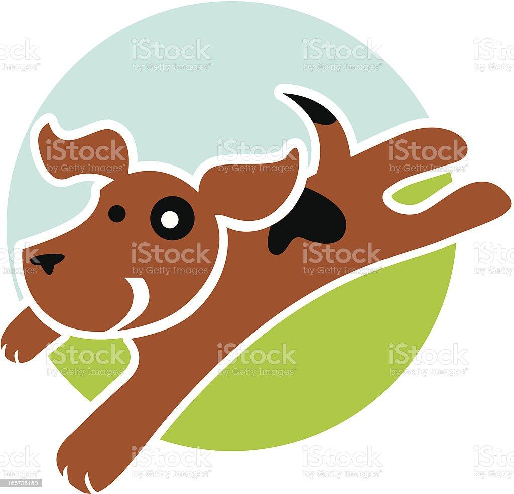 Running Dog Icon royalty-free stock vector art