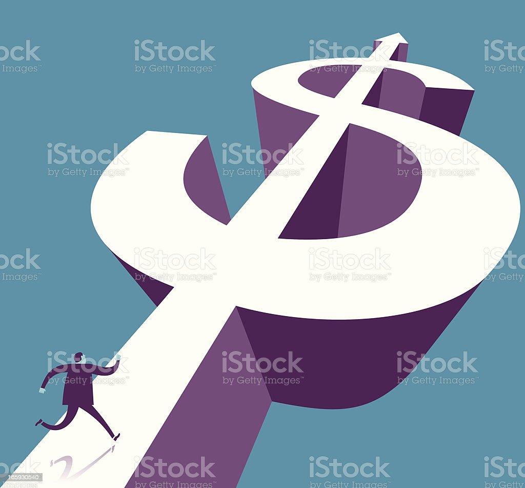 Running for Money royalty-free stock vector art