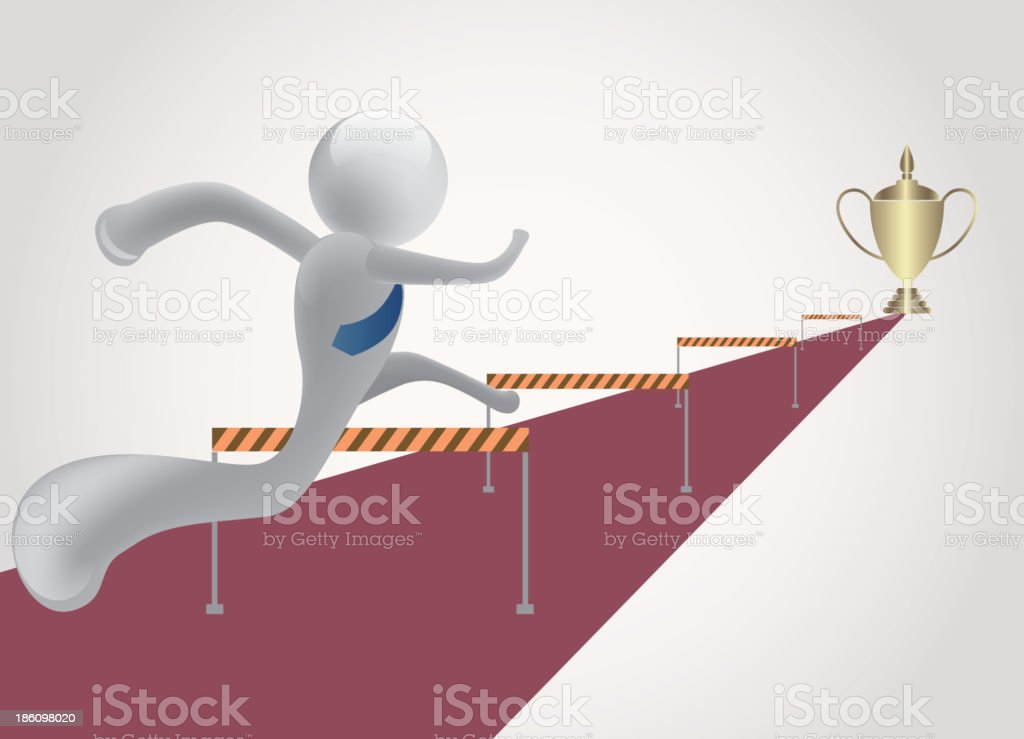 Running for success vector art illustration