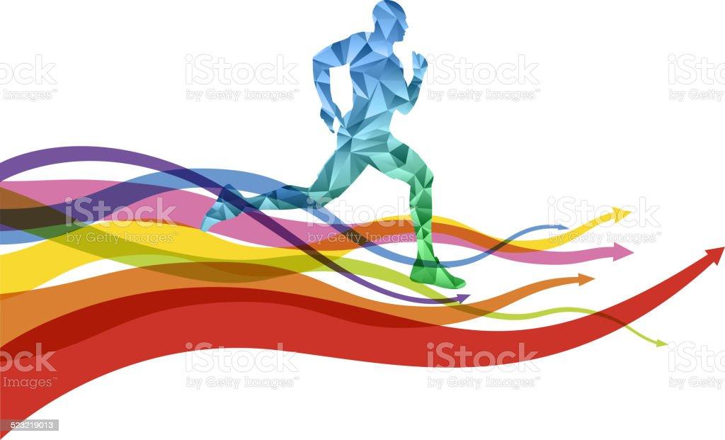 Running forward vector art illustration