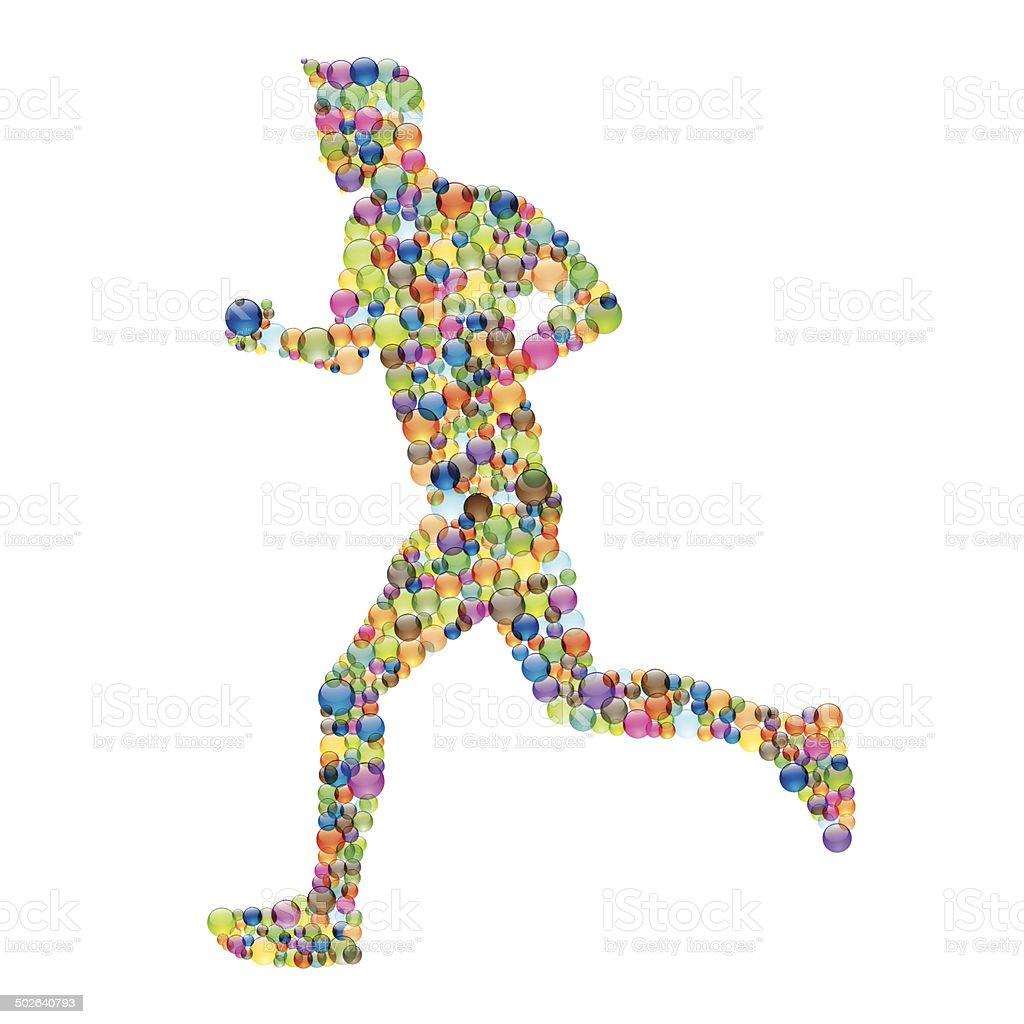 Running human vector art illustration