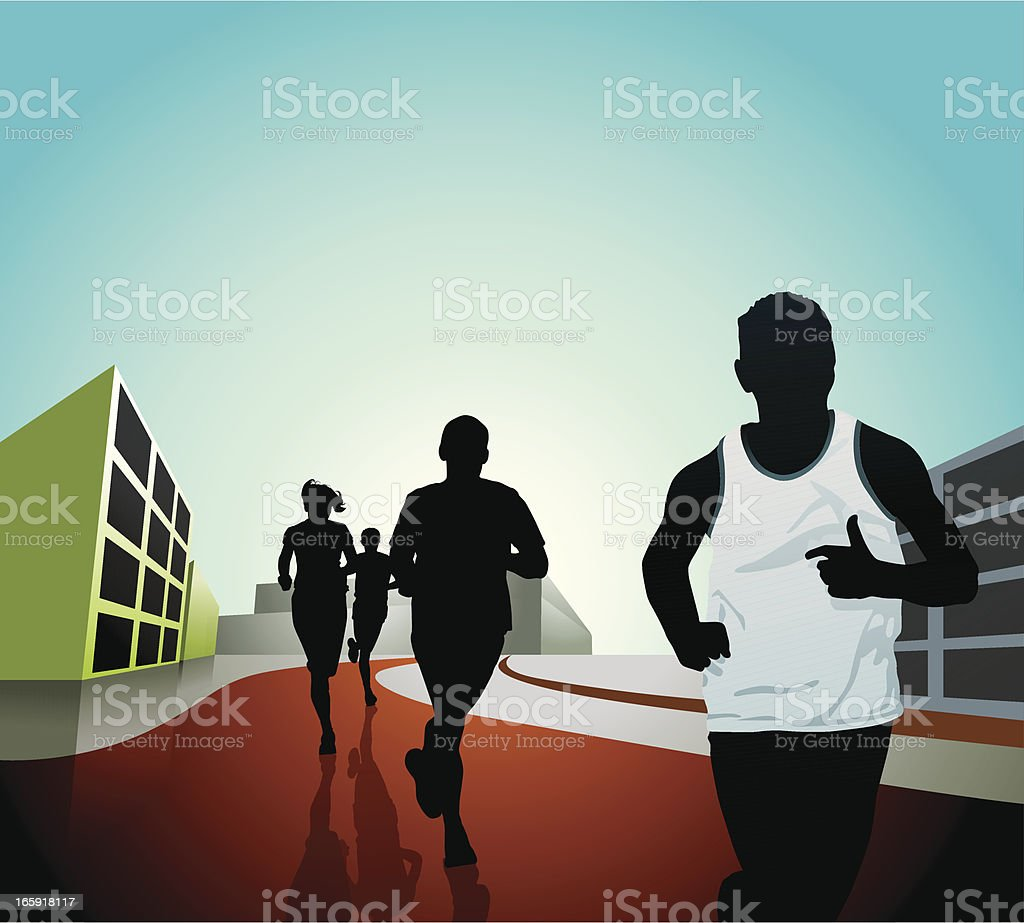 Running in the City royalty-free stock vector art
