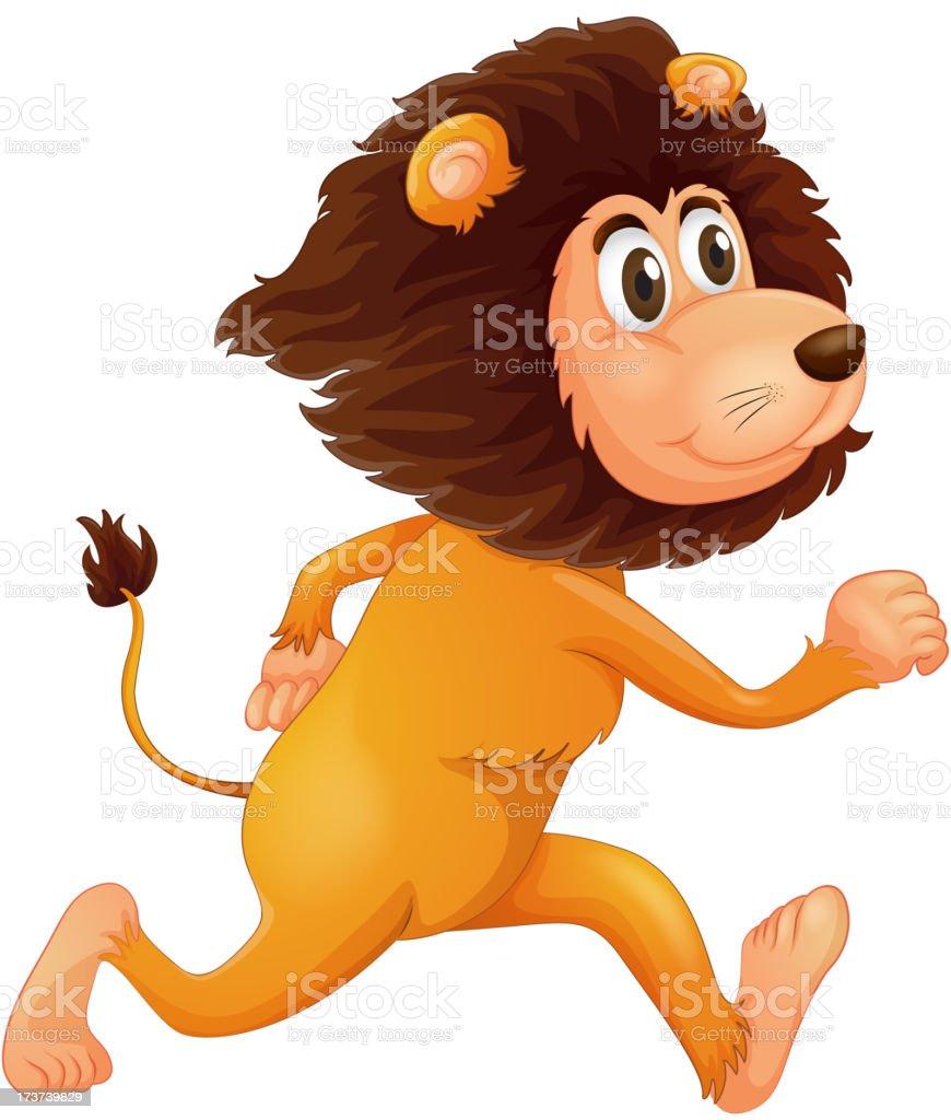 Running lion royalty-free stock vector art
