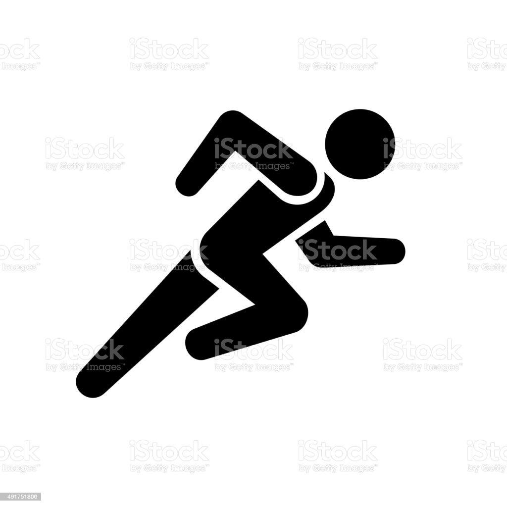 Running Man Icon on White Background. Vector vector art illustration