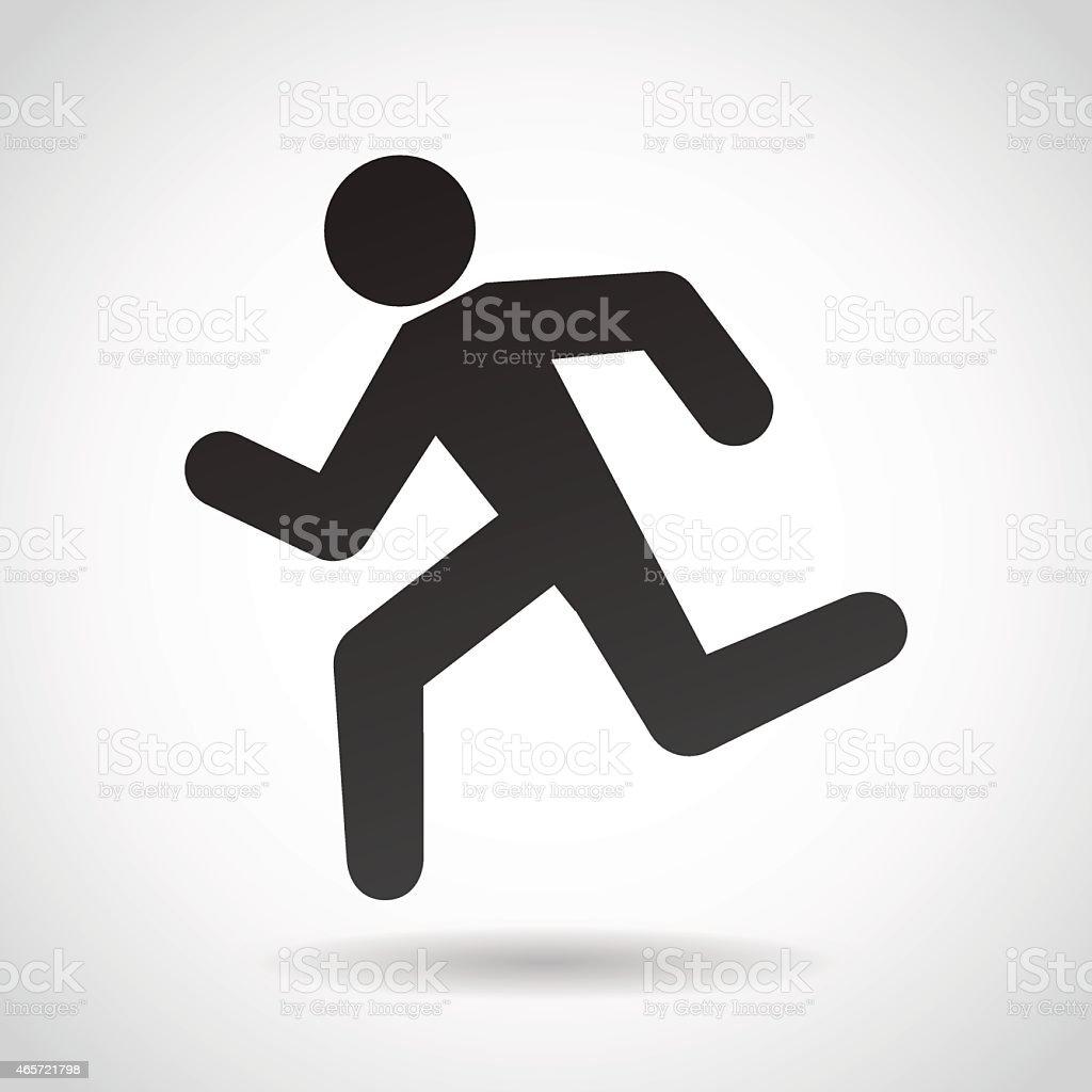 Running man icon. vector art illustration
