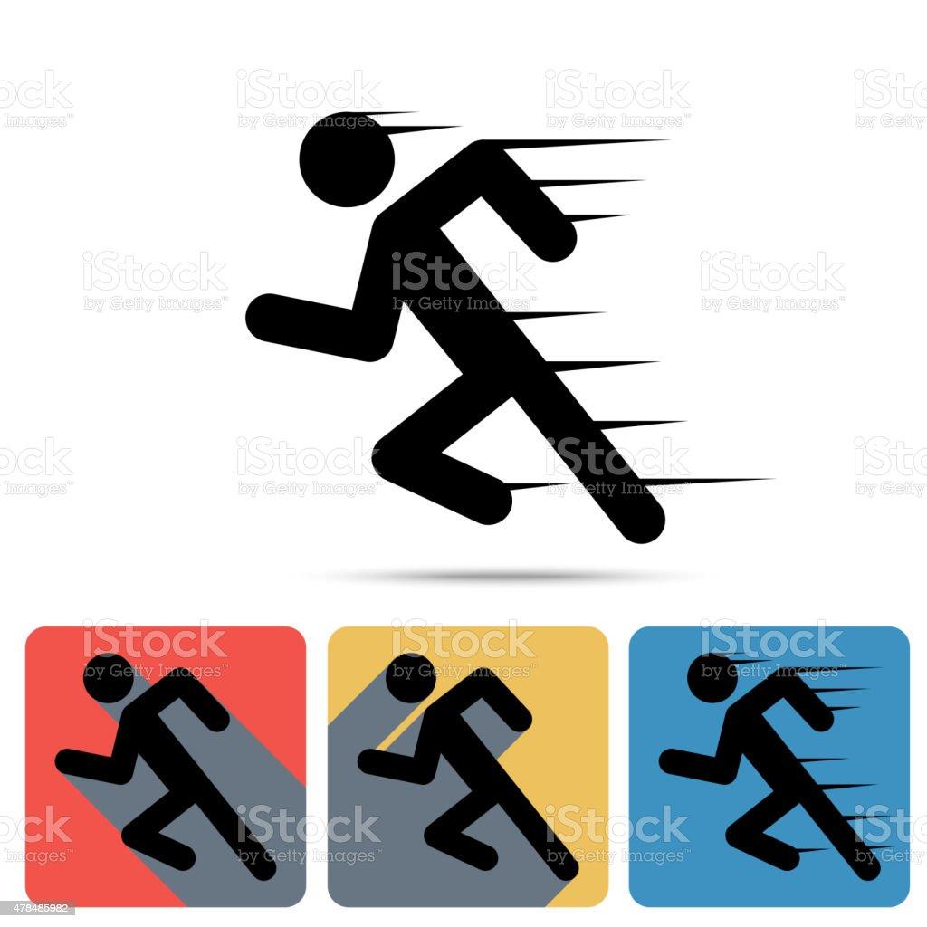 Running Man icon vector art illustration
