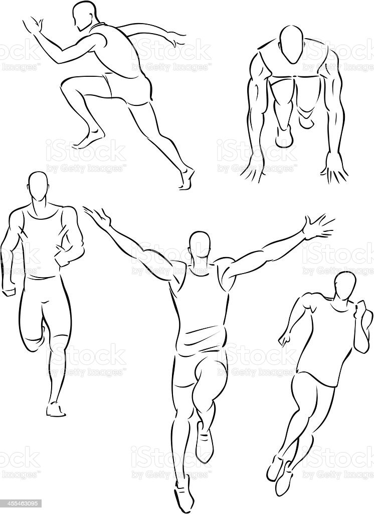 Running man sprinting 1 royalty-free stock vector art