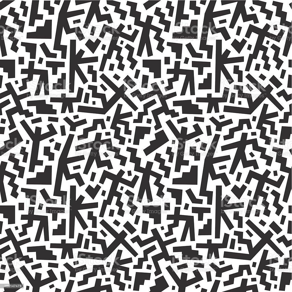 running man's - seamless pattern royalty-free stock vector art