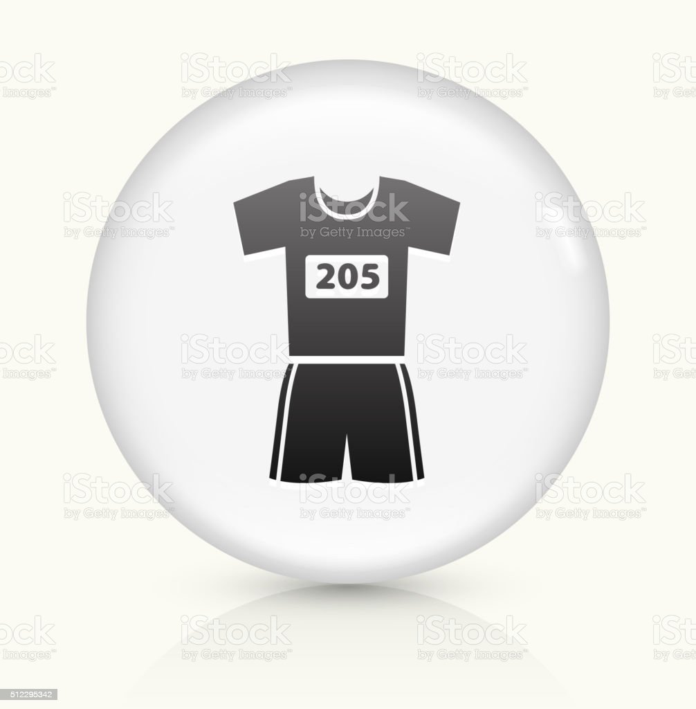 Running Outfit icon on white round vector button vector art illustration
