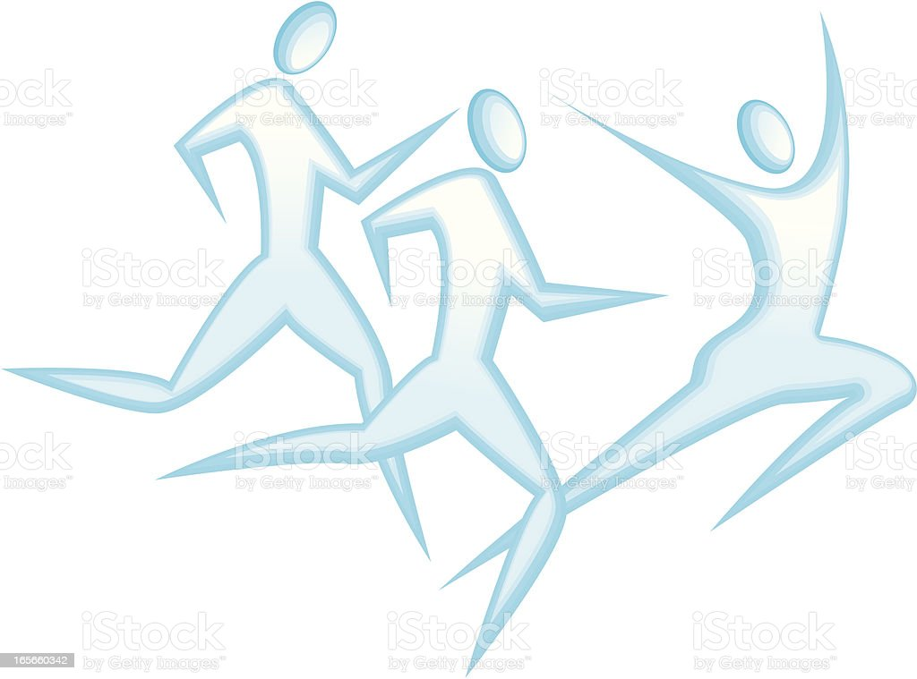 Running Race royalty-free stock vector art
