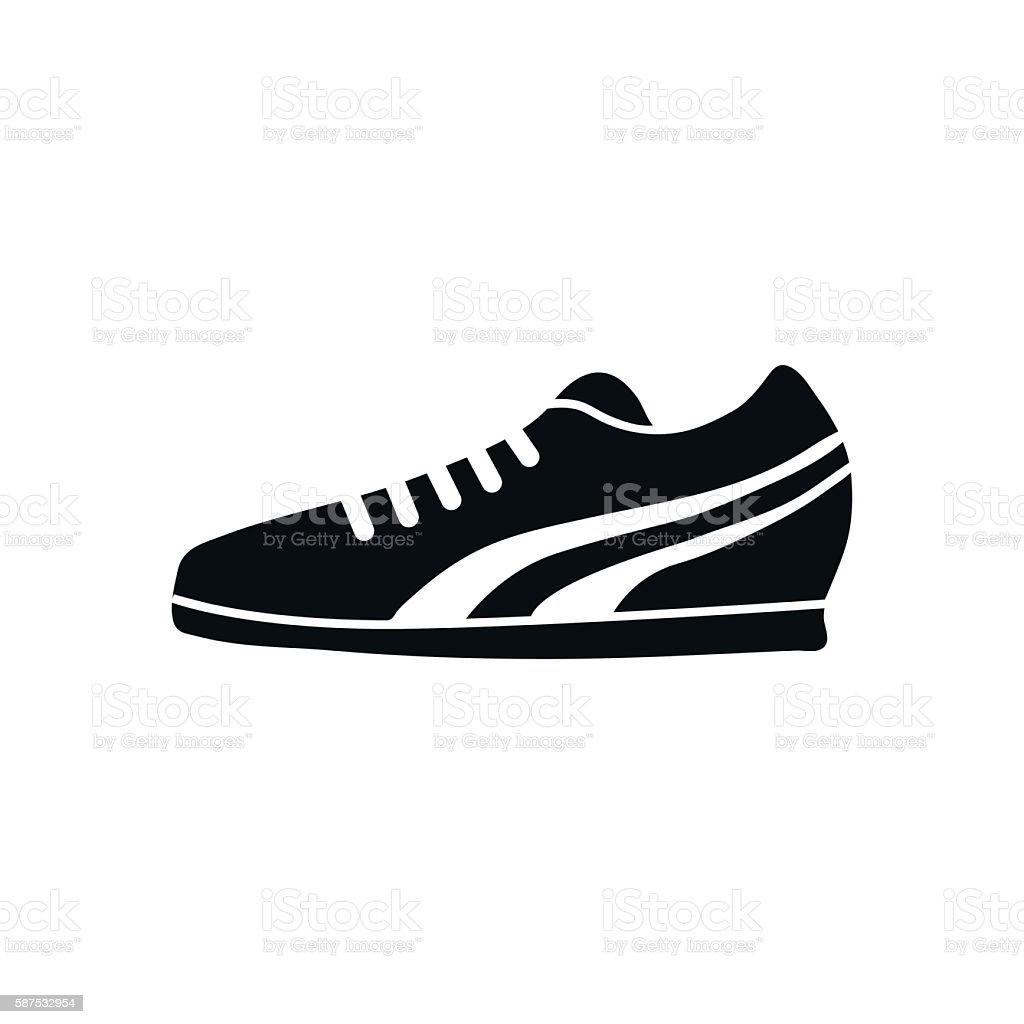 Running Shoe Icon on White Background. Vector illustration vector art illustration