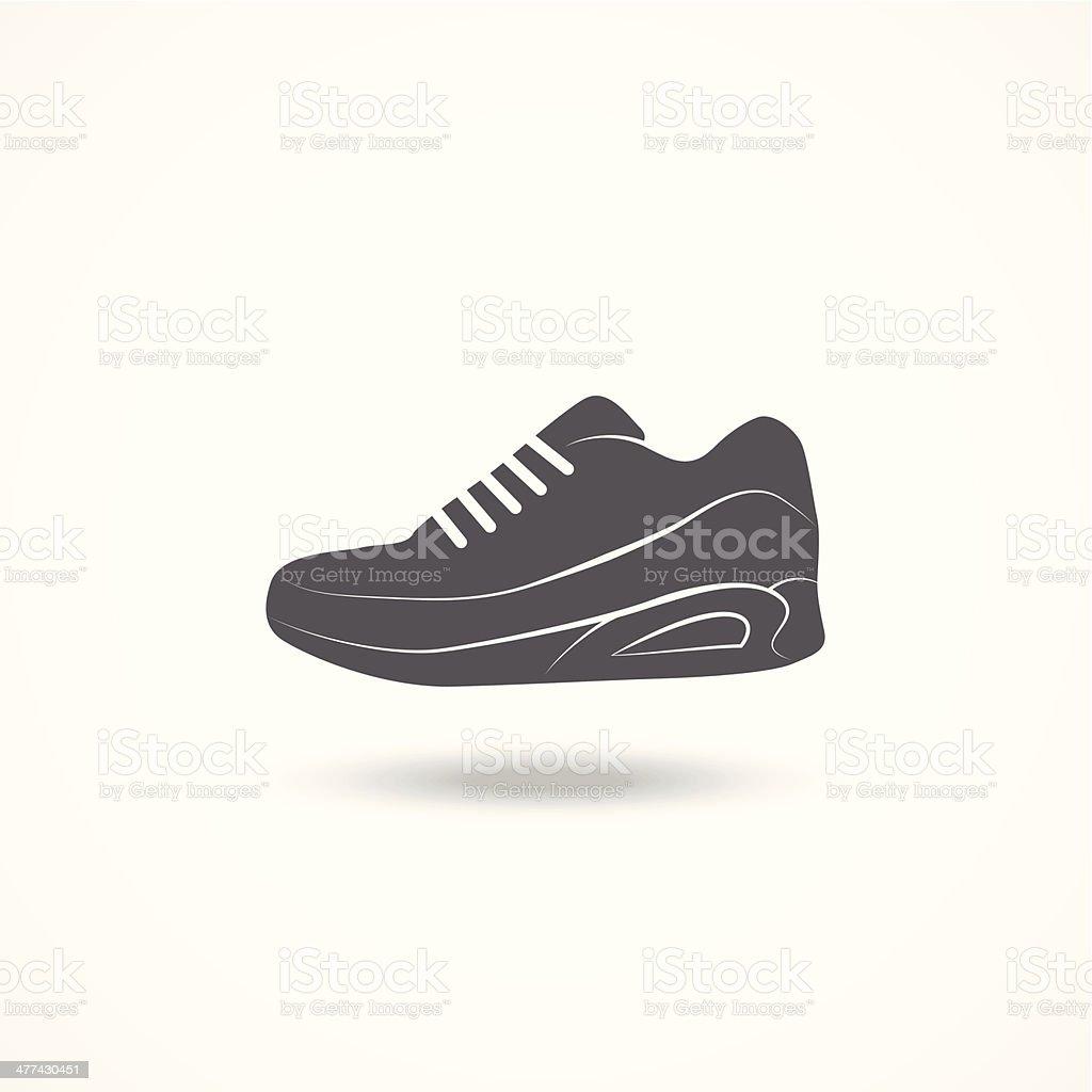 Running shoe icon royalty-free stock vector art