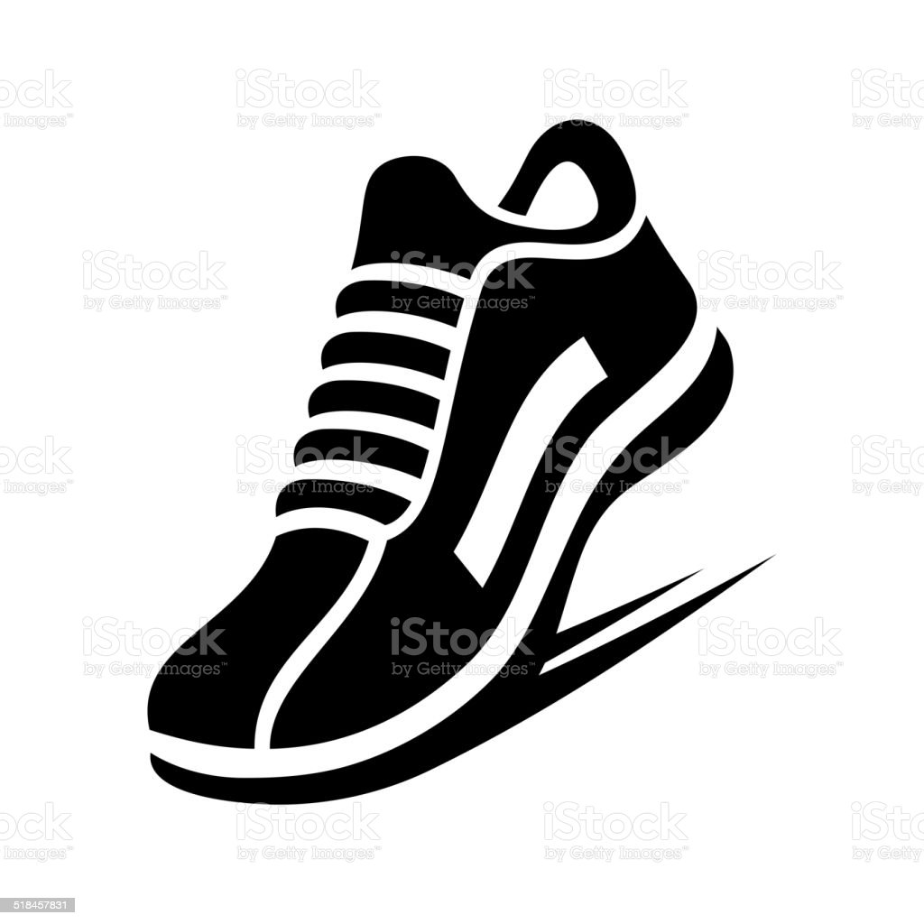 Running Shoe Icon. Vector vector art illustration
