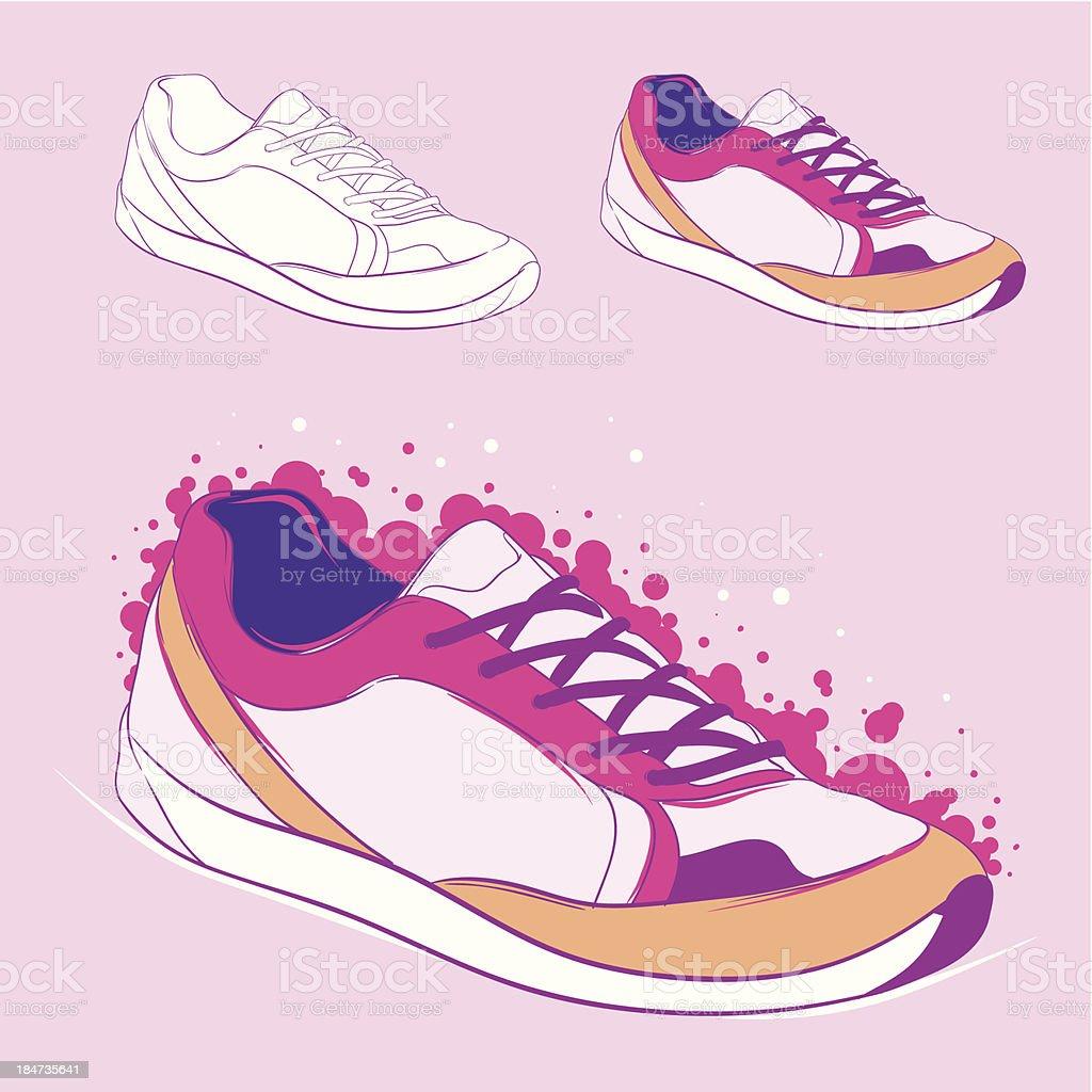 Running shoe royalty-free stock vector art