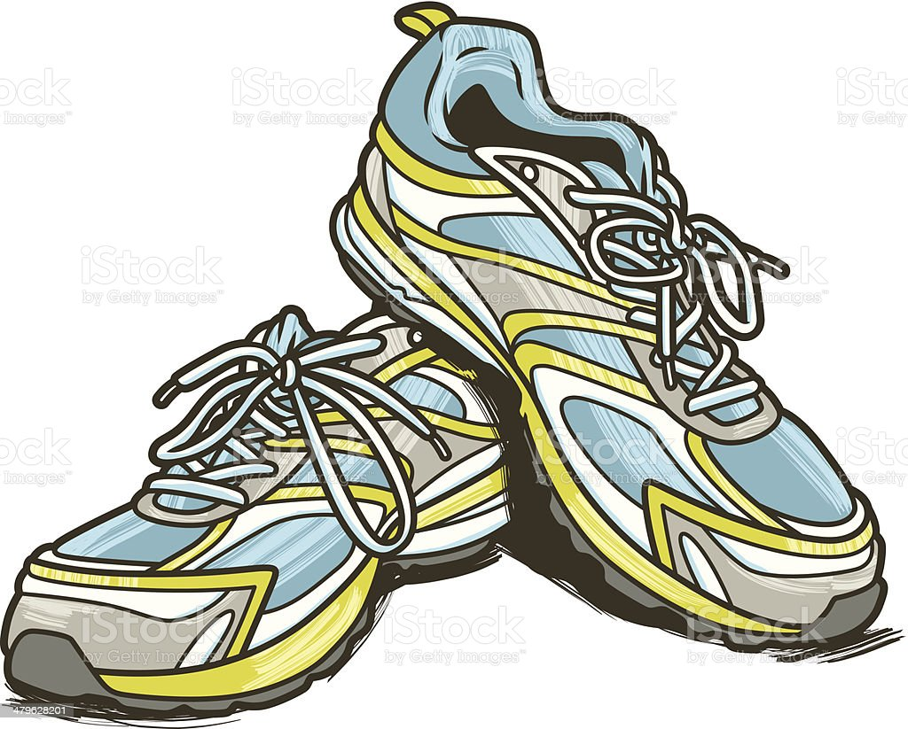 Running Shoes C vector art illustration