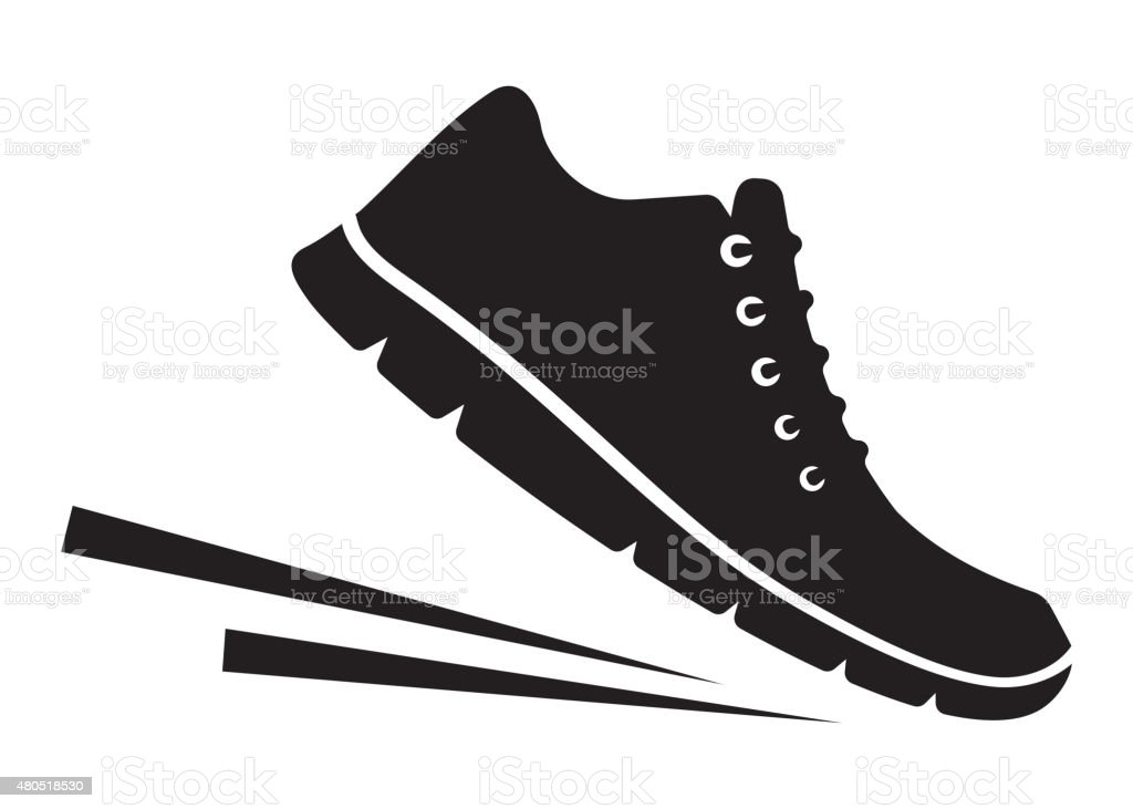 Running shoes icon vector art illustration